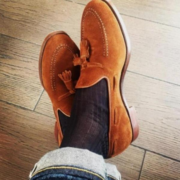 Christmas Sale Brown Tassels Loafer Casual Wear Men's Shoes